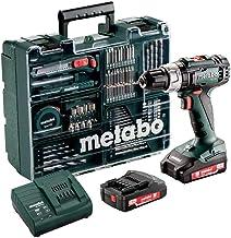 metabo 602317870 Taladradora de Percusión de Batería, 18 V, Negro/Verde, Size