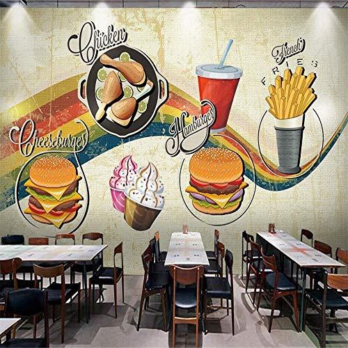 Wandbild, Wandmalerei, Burger-Shop, 150 x 105 cm