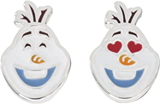 Disney Frozen Jewelry for Women, Silver Plated Olaf Mix and Match Stud Earrings