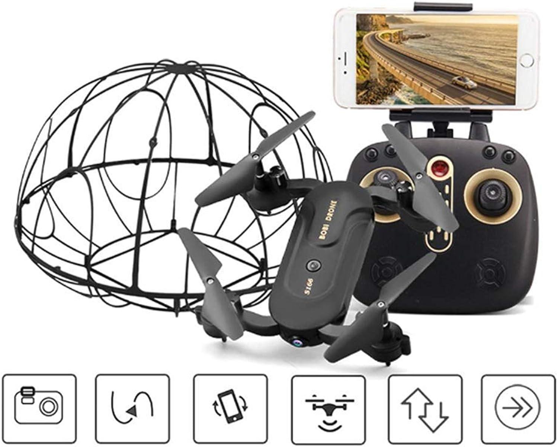 Mengen88 Unbemannter Flugzeugquadcopter 6-Achse Gyroskope Folding UAV Plus Protection Ring Resistance to High Headless One-Key Return Easy Control, für Kinder & Anfnger