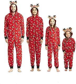 Pijamas una Pieza Familiares de Navidad, Conjuntos Navideños de Algodón Diseño de Rayas para Mujeres Hombres Niño Bebé, Ro...