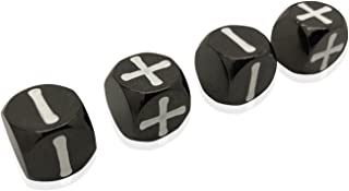 Norse Foundry Drow Black - Fate Dice 4 Pack of Metal Dice