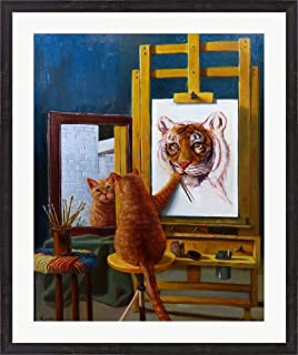 Norman Catwell by Lucia Heffernan Framed Art Print Wall Picture, Espresso Brown Frame, 31 x 37 inches