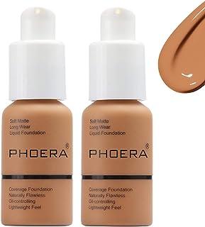 Phoera Foundation Matte Oil Control Concealer Foundation Cream,Long Lasting Waterproof Matte Liquid Phoera Foundation, 108...