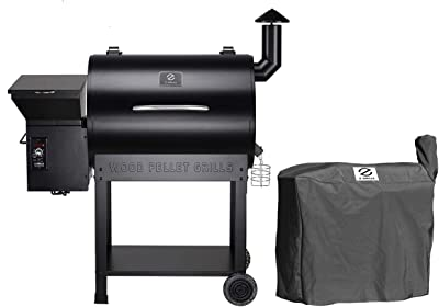 Z GRILLS ZPG-7002B Wood Pellet Grill Smoker for Outdoor Cooking with Cover