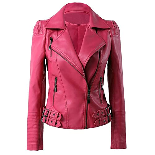 2019 real best prices watch Pink Leather Jacket: Amazon.co.uk