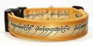 El Señor De Los Anillos The Lord of The Rings Collar Perro Hecho A Mano Talla L Handmade Dog Collar