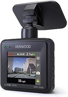 Kenwood DRV 330 Kompakte Full HD Dashcam mit GPS, 2 MP Schwarz