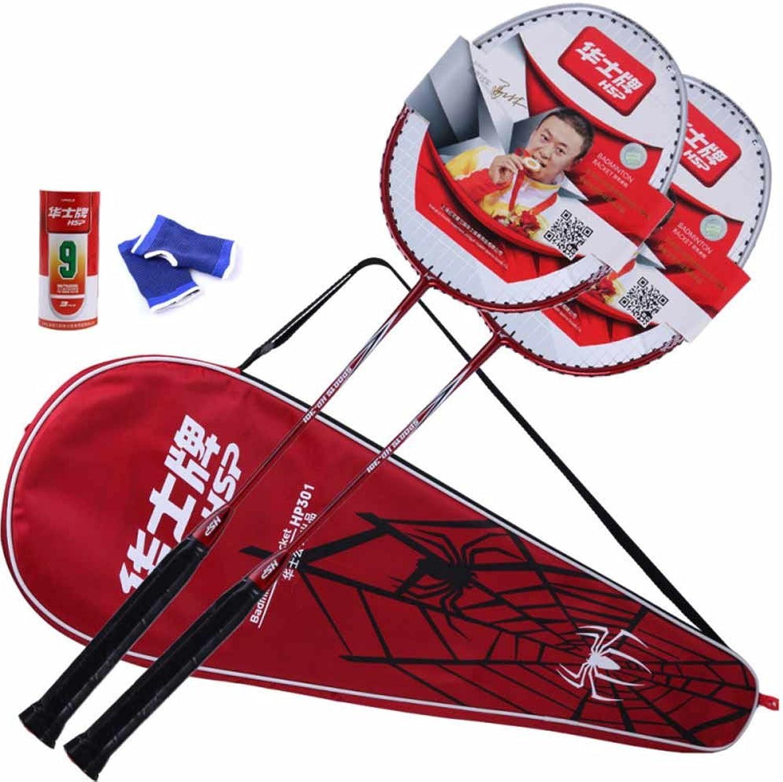 DHS 2 Player Badminton Racket Set Including 1 Badminton Bag 2 Rackets 3 Badminton 2 elbow pads titanium alloy integration