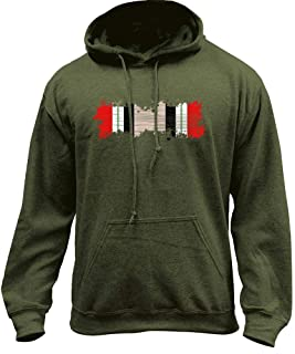 USAMM Distressed Iraq Campaign Medal Ribbon Veteran Pullover Hoodie