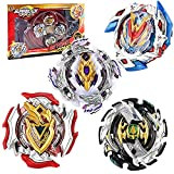Funmo Burst Peonzas, 4 Pcs Conjuntos de Metal de Gyro 4D Peonzas Gyro Lucha Maestro Cadena...