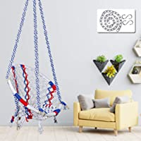 Patiofy Made in India Cotton Round Swing-Hanging Cotton Chair Swing with Accessories & Strong 3 ft. Chain for Indoor &...