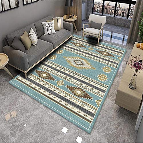 VOVTT Rug,Oriental Carpet,Colorful Tribal Pattern Sofa Chair Cover Tablecloth,Large Traditional Floor Mat For Hallways,Living Rooom,Kids Bedroom,80x120cm
