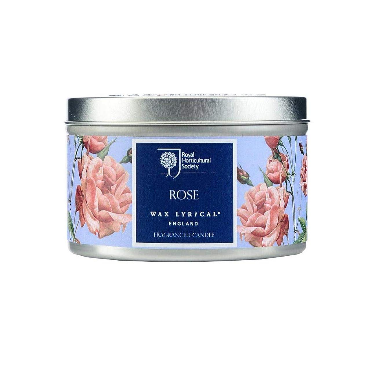 モート伝染性の腹WAX LYRICAL RHS FRAGRANT GARDEN 缶入りキャンドル ローズ CNRH5002