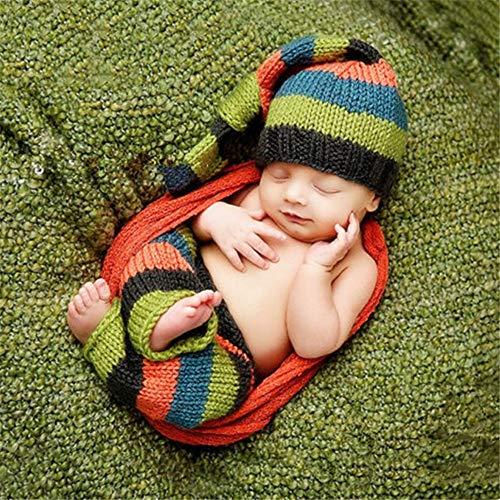 Neugeborenes Baby Foto Kostüm Kinder Studio Fotografie Wollkleidung Hundert Tage Fotografie-Bekleidung Baby Hand Strickpullover für Junge Mädchen (Farbe : Photo Color, Size : One Size)