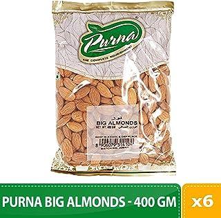 Purna Big Almonds - 400 gm(Pack of 6)