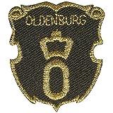 Aufnäher - Brandzeichen Oldenburg - 02167 - Gr. ca. 3,5 x 4 cm - Patches Stick Applikation