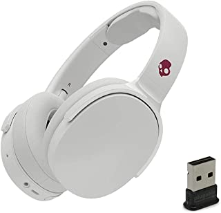 Skullcandy HESH 3 Noise Canceling Over-Ear Wireless Bluetooth Headphone Bundle with Plugable USB 2.0 Bluetooth Adapter - Vice/Gray/Crimson