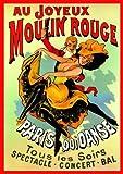 French Art Nouveau Theatre Cabaret MOULIN ROUGE JOYEUX