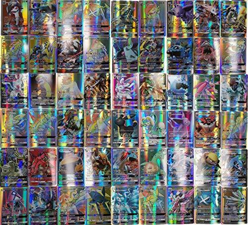 Cartes Pokemon GX Set Cartes à Collectionner Pokemon EX, 120 pièces de Cartes Pokemon avec 100 Cartes Pokemon GX et 20 Cartes Pokemon EX, Cartes Flash Enfants (100GX+20EX)