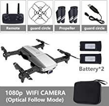 OUYAWEI Drone Drone x pro 5G Selfie WiFi FPV with 4K HD Dual Camera Foldable RC Quadcopter 1080P Black 2 Battery