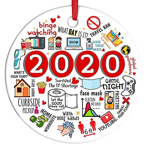 GloBrite 2020 Annual Events Christmas Quarantined Hanging Ornamnets - Decorations Decor for Xmas Tree Home Pendant (2020)