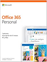 Microsoft Office 365 Personal - Software para PC y Mac, 1