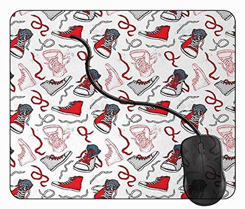 Mauspad Schuhe Schuhmode, 24x20cm Gaming Mauspad Matte Reibungslos Weich Rutschfester Gummi Basis für PC Laptop