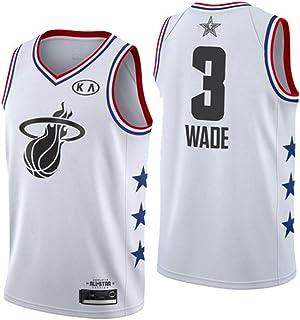 Vêtements Hommes NBA Heat #3 Wade T-Shirt de Basket-Ball Retro Maillots Uniforme de Basket-Ball Top Brodés Basket-ball