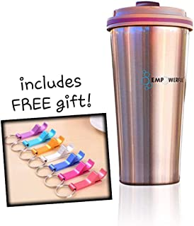 EMPOWERFUL Vacuum Insulated Leak-Free Coffee Tumbler - Double Wall Stainless Steel Thermal Travel Mug 17oz/500ml (Bronze)