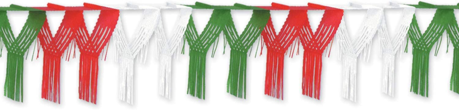 Amazon Com Beistle 3 Pieces Drop Fringe Garland 20 X 12 Multicolor Kitchen Dining