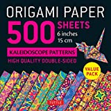 "Origami Paper - 500 Sheets Kaleidoscope Patterns- 6"" (15 Cm): Tuttle Origami Paper: High-quality Origami Sheets Printed With 12 Different Designs: ... (Instructions for 6 Projects Included)"