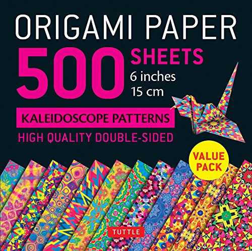 """Origami Paper - 500 Sheets Kaleidoscope Patterns- 6"""" (15 Cm): Tuttle Origami Paper: High-quality Origami Sheets Printed With 12 Different Designs: ... (Instructions for 6 Projects Included)"""