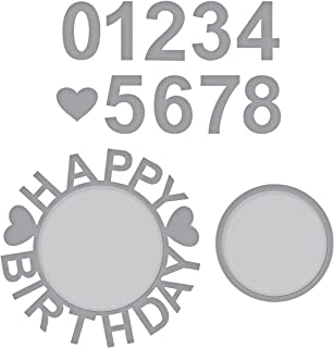 Spellbinders S4-943 Shapeabilities Happy Birthday w/Numbers Etched/Wafer Thin Dies