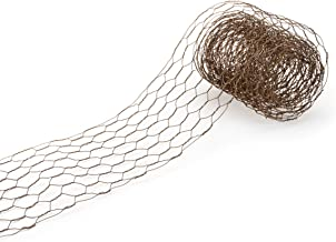 Darice 6614-108 Chicken Wire Ribbon for Craftwork, 4-Inches x 9-Feet, Rusty