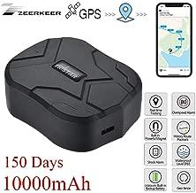 ZEERKEER GPS Tracker, 150 Days Standby Waterproof and Anti-Lost GPS Locator with Geo-Fence SOS Alarm GPS Position Tracker for Cars/Vehicles/Trucks/Motorcycles/Ship Via Free App 10000mAh