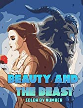 Beauty and The Beast color by number: Musical Romantic Fantasy Film Based on Fairy Tale Illustration Color Number Book for...