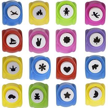 Paper Shaper Mini Puncher DIY Art /& Craft Dispositivo de grabaci/ón en Relieve para Estrellas Papel Scrapbook Cards Craft DIY Album Tarjetas de felicitaci/ón ysister 10pcs Perforadoras de Papel
