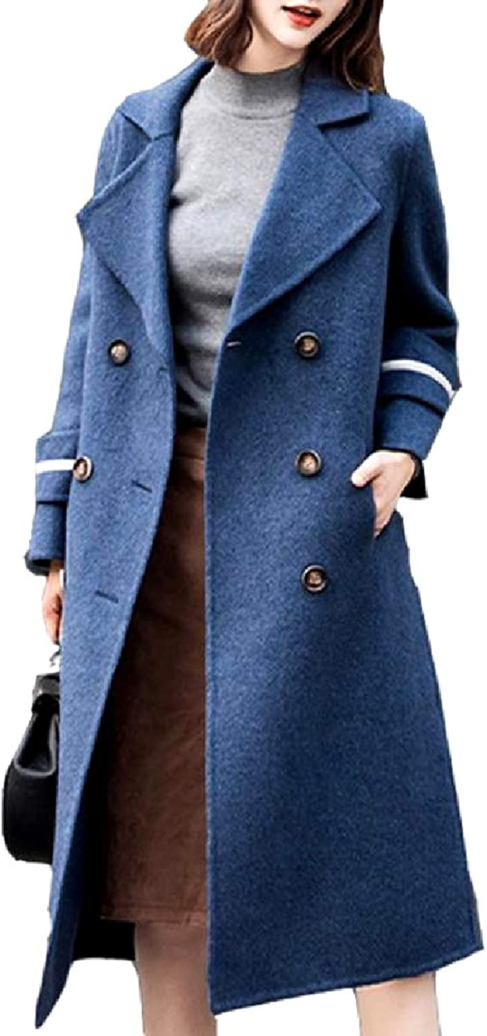 Winme Womens Double Faced Wool Blend Maxi and Midi Walker Coat