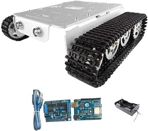 FLAMEER Metall Wifi Panzer Chassis Bausatz Set, Entwicklung Menschen Hand und Gehirn F gkeit - Silber