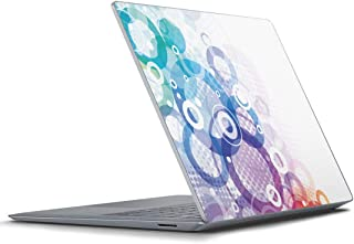 igsticker Surface Laptop3 15インチ 専用スキンシール Microsoft サーフェス ラップトップ カバー フィルム ステッカー アクセサリー 保護 000942 ラグジュアリー カラフル 丸