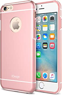 iPhone 6 Case, XDesign Inception Case [Apple Aluminum] TPU+PC [Triple Injected] Frame - Durable Stylish Protective Slim Case for Apple iPhone 6 (4.7 inch) [Lifetime Warranty] - [Rose Gold]