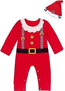 2PCS Christmas Outfit Set Baby Boys Girls Funny Elf Costume Newborn Romper