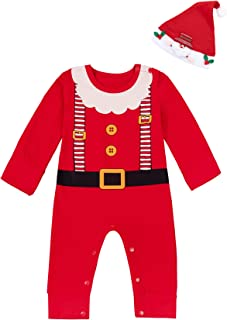 2PCS Christmas Outfit Set Baby Boys Girls Funny Elf Costume Newborn Romper