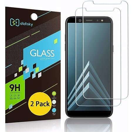 Didisky Pellicola Protettiva in Vetro Temperato per Samsung Galaxy A6 2018, [2 Pezzi] Protezione Schermo [Tocco Morbido ] Facile da Pulire, Trasparente