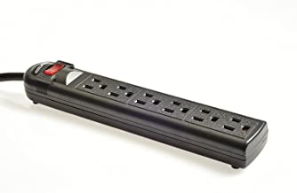 Digital Energy 6-Outlet Surge Protector Power Strip with 8-Ft Long Extension Cord, Black