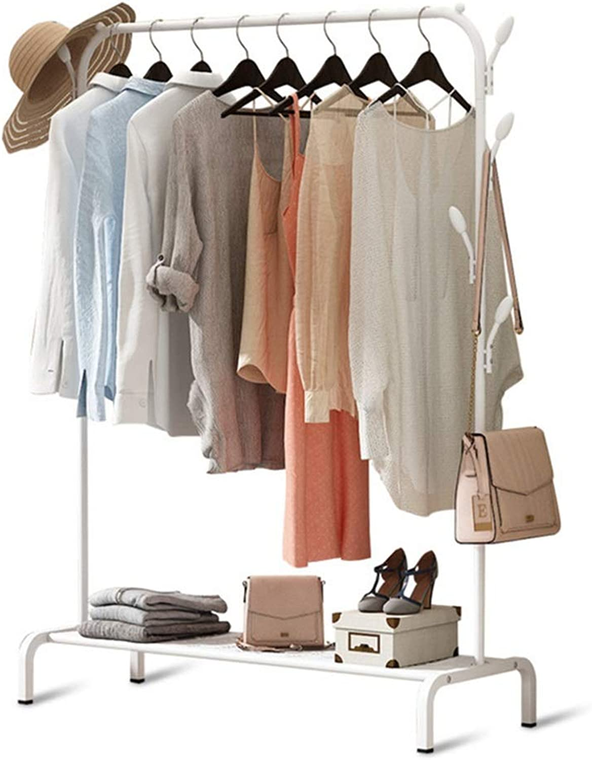 Standing Coat Racks Drying Rack Floor Folding Indoor Drying Rack Bedroom Hanger Home Simple Coat Rack Stall Stand -0223