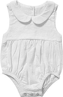 الرضع طفلة ملابس السروال القصير الصيف حللا قصيرة الأكمام نيسيي الرضع طفل الملابس فتاة (Color : White, Size : 59CM)