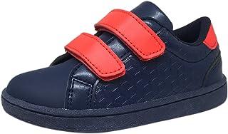 My Brooklyn Boy's and Girl's Vegan Durable Lightweight Reinforced Toe Double Hook and Loop Sneaker
