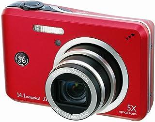 GE General Electric J1455 Digitalkamera (14 Megapixel, 5 Fach Opt. Zoom, 7,6 cm Display (3,0 Zoll), Auto Panorama, Bildstabilisator, Li Ion Akku) rot
